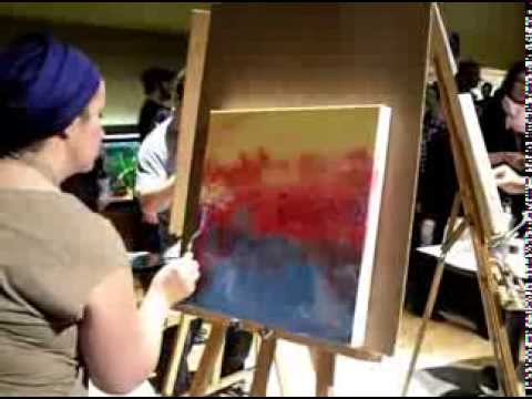 Lily Martinez Prophetic Artist Speed Painting Landscape in Acrylic