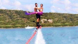 Totally Flyboard Action - a Mermaid got on flyboard too - rare