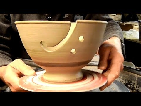 Making a Pottery Knitting Bowl on the Wheel. image