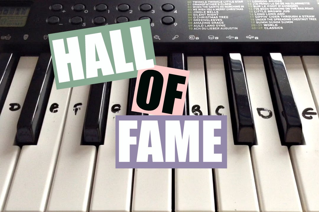 Hall Of Fame The Script Easy Keyboard Tutorial With Notes Right