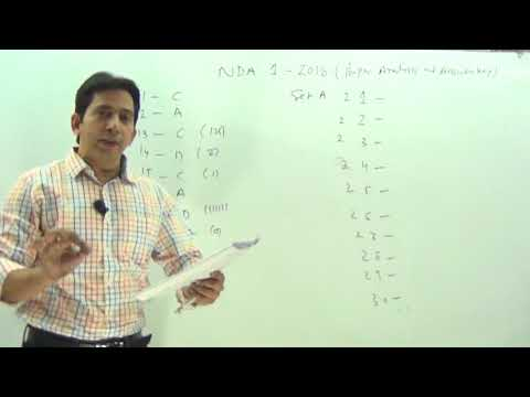 NDA 1 2018  Paper Analysis | Expected Cutoff | Answer Key NDA paper