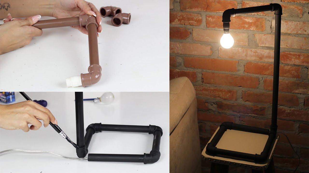 Luminária industrial com canos de PVC: aprenda a fazer! - YouTube