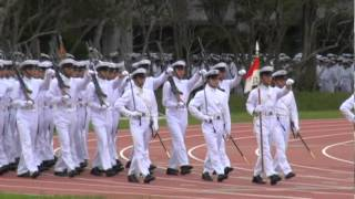 2012-06-18   防衛大学校 月例パレード(1大隊・2大隊).mpg