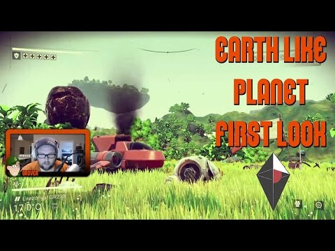 No Man's Sky First Look - Lush Earth Like Starting Planet & Space Launch (PS4 Gameplay)