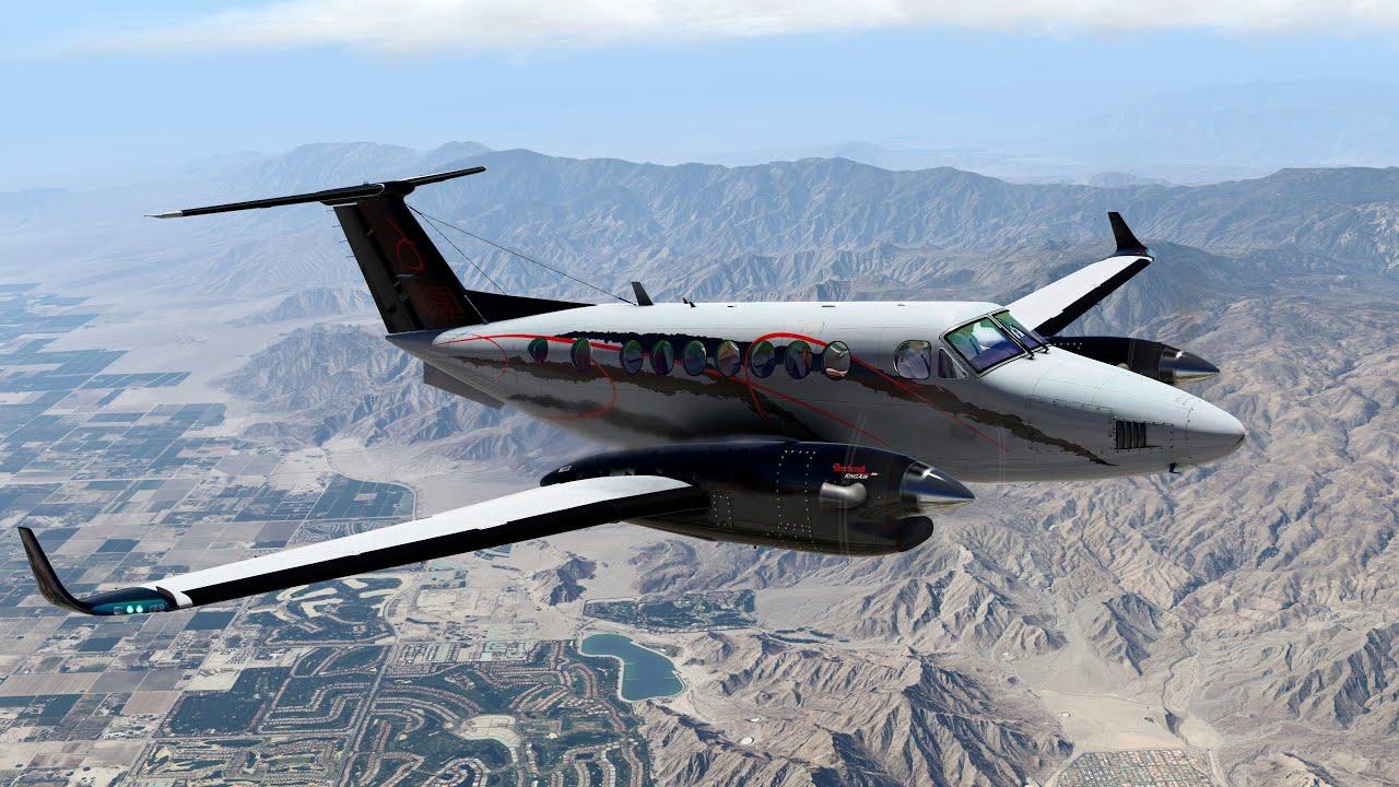 XP11 | KTRM (Jacqueline Cochran) KNRO (Reno-Tahoe) | Airfoillabs King Air  350 | New Amazing Livery!