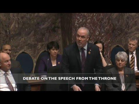 John Horgan's Throne Speech Response | TWO