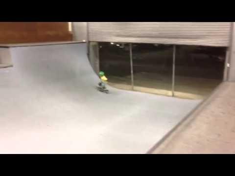 Mini ramp run at Vans skatepark Orange County  California