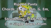 Ripped Pants Ukulele Tutorial - YouTube