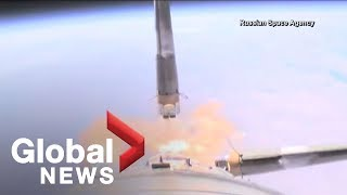 Russia releases dramatic video of Soyuz rocket failure