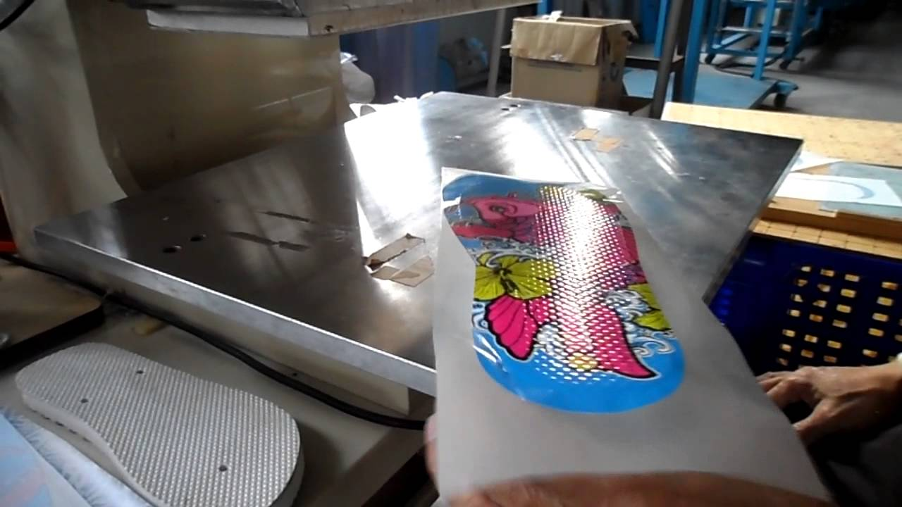 Heat Transfer For Eva Flip Shoes Youtube