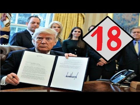 All 18 Executive Orders Trump Has Signed So Far