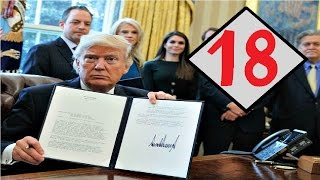 All 18 Executive Orders Trump Has Signed So Far