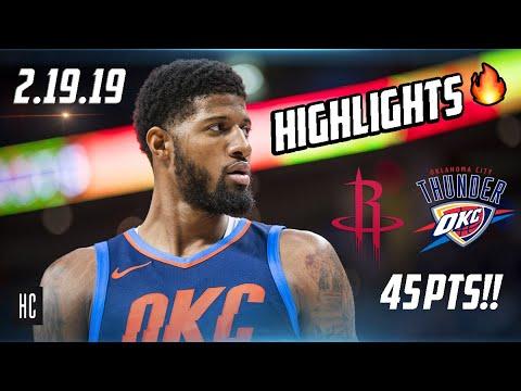 Houston Rockets vs Oklahoma City Thunder | Full Game Highlights 🔥 2.9.19 ᴴᴰ