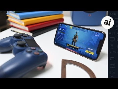 Playing Fortnite on iOS 13 with a PS4 DualShock 4 Controller!