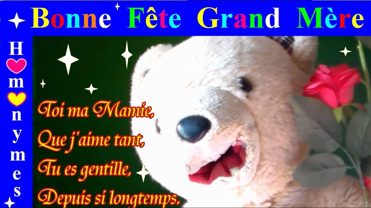 Orthographe Poème Et Homonymes Bonne Fête Grand Mère