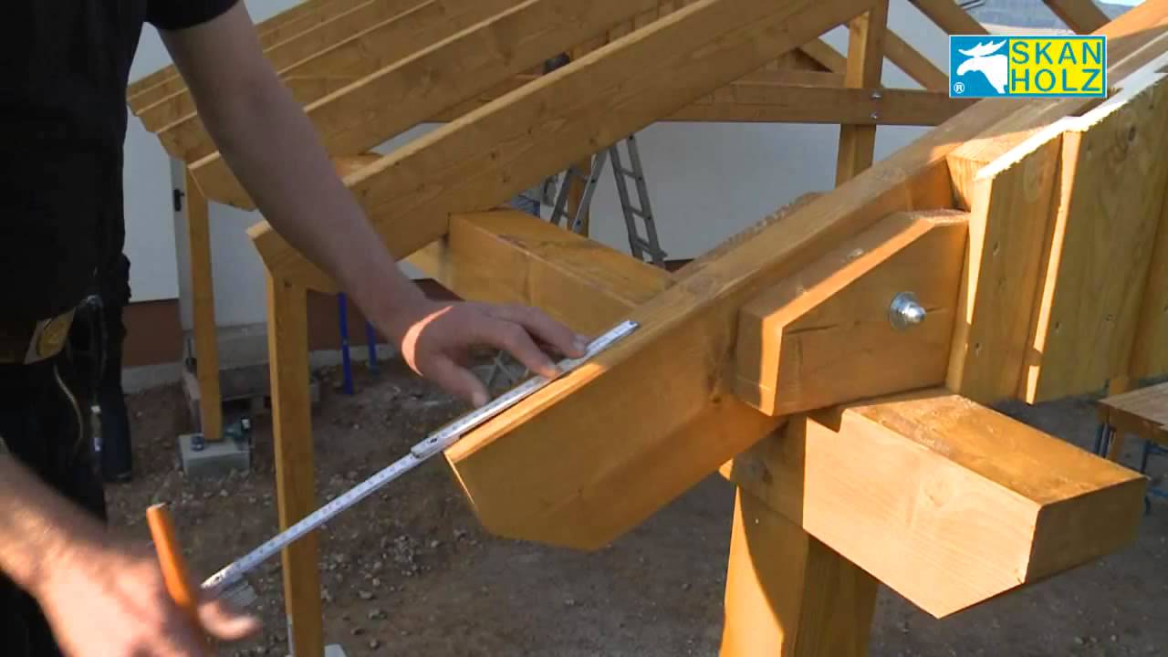 Carport Aufbau aufbau eines skan holz carports