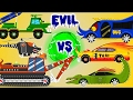Excavator War   Good vs Evil   Scary Street Vehicles   Kids Videos