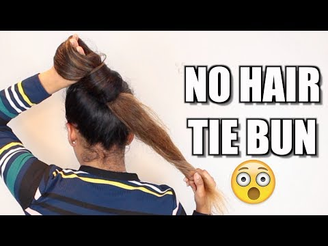 3 NO Hair Tie Buns For Long hair | Hair Bun Tutorial