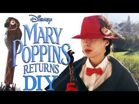 DIY Mary Poppins Returns Costume & Umbrella!
