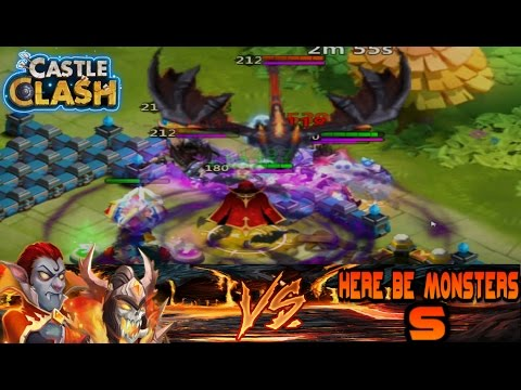 Vlad Dracula And Skull Knight Vs. HBM S!!(No Other Heroes) Castle Clash