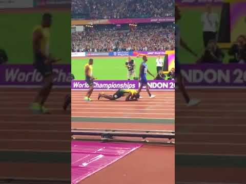 Usain Bolt Fails to Finish 4x100m Relay Medal Race