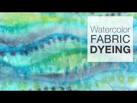 How To Dye Fabric Painting Fabric With Dye Youtube