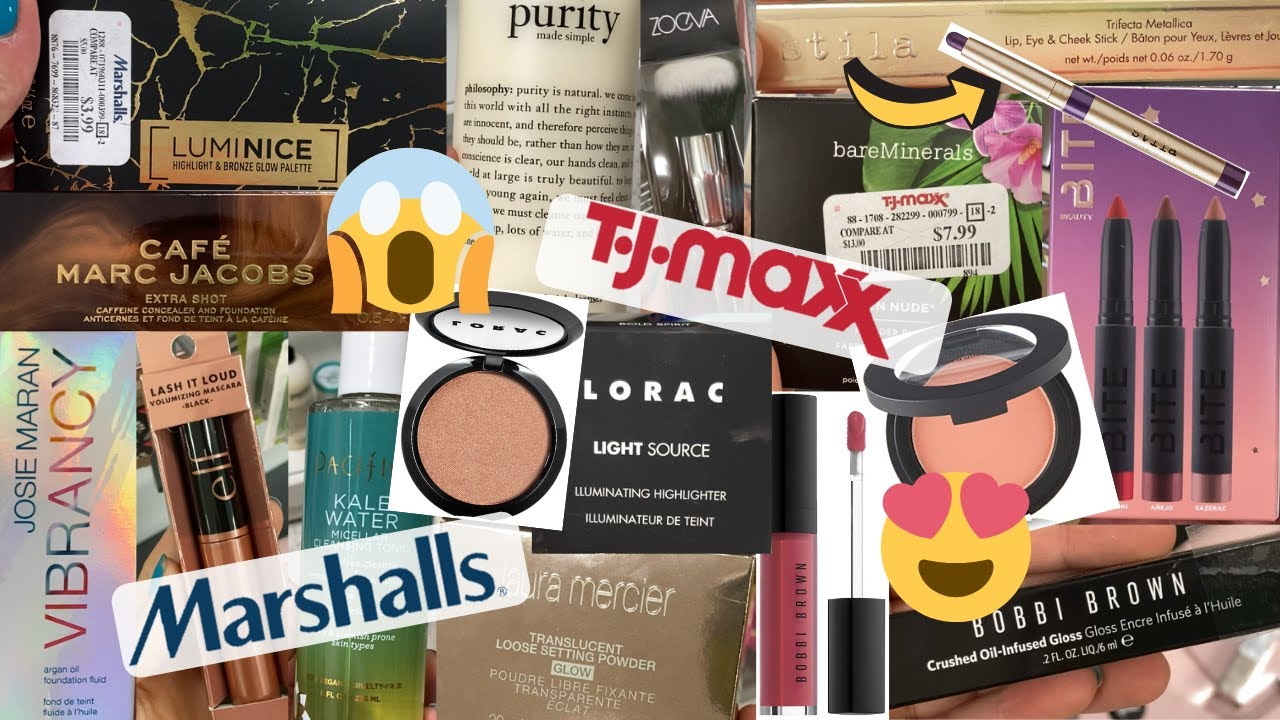 JACKPOT MAKEUP FINDS AT TJ MAXX & MARSHALLS | Marc Jacobs CAFE COLLECTION, BARE MINERALS & MORE!