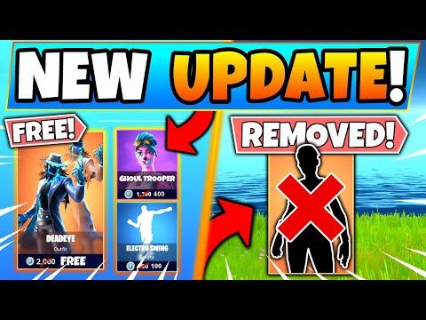 FREE SKINS And SALE ITEM SHOP + SKIN REMOVED In Fortnite (Battle Royale Update)