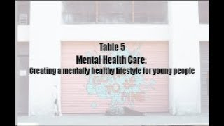 Creating a mentally healthy lifestyle ...