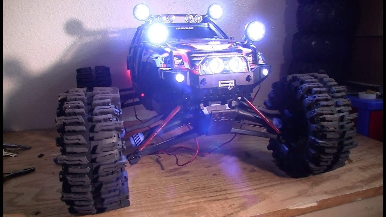 how to install best traxxas summit 1 8 52 led lights night rides