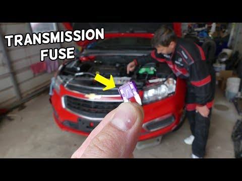 CHEVROLET CRUZE TRANSMISSION FUSE LOCATION REPLACEMENT. TCM TRANSMISSION PROBLEMS