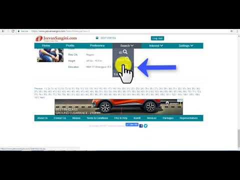 JeevanSangini.com - How to login and search profiles JeevanSangini.com