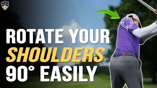 Shoulder Turn In Golf ➜ Easy Way To Get Full Rotation