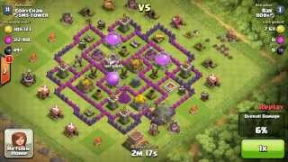 clash of clans - awesome loot of 216k gold and 302k elixir