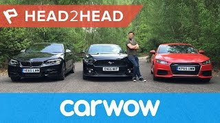 Ford Mustang vs Audi TT vs BMW M235i Coupes 2017 review Head2Head