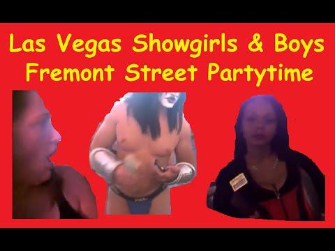 Fremont Street Buskers Downtown Bars Partying Las Vegas Strip Video Tour