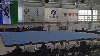 Спортивная акробатика. Новосибирск. СФО-2019. Софья и Арина. Вольтиж. 11-16.