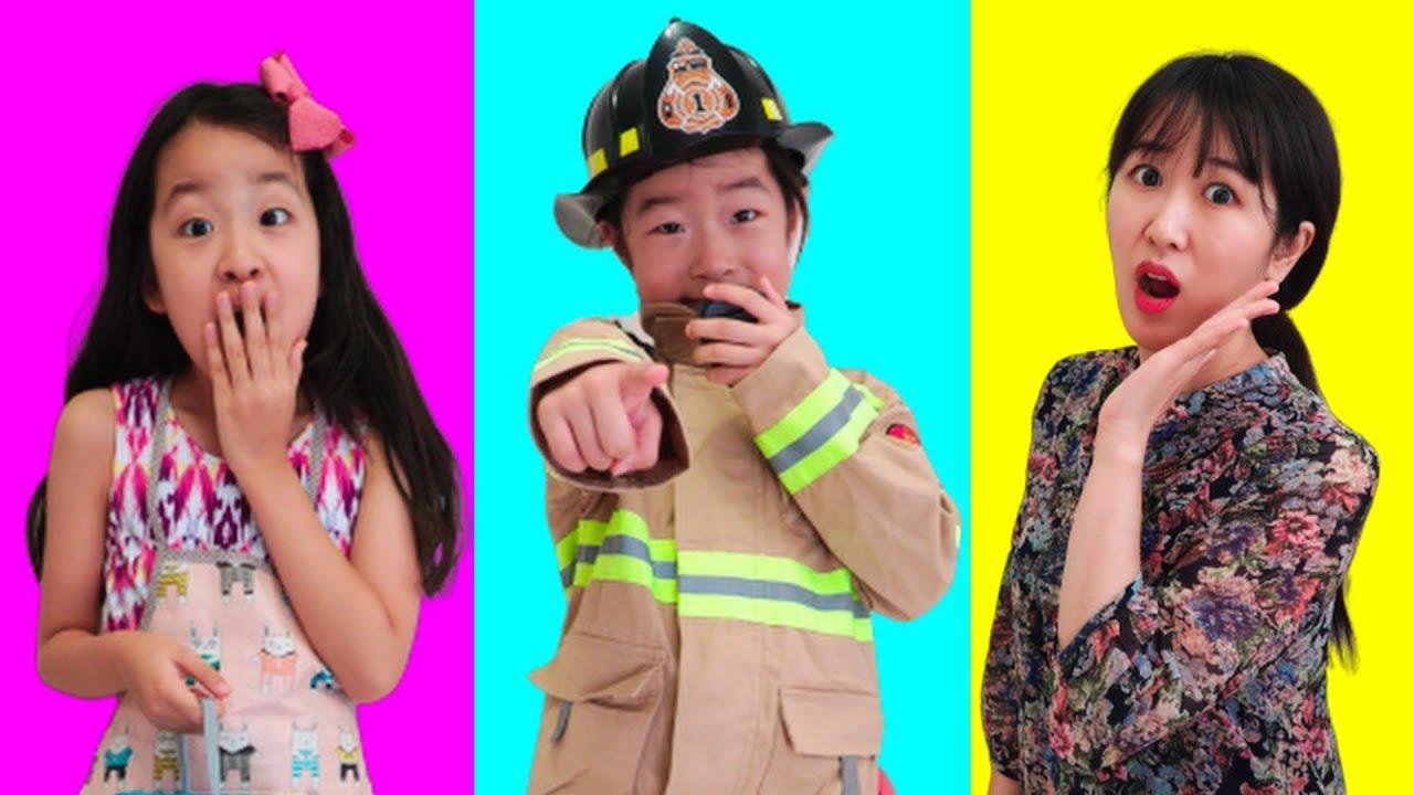 Jobs Career & Professions Song    Jannie & Family Pretend Play Nursery Rhymes Kids Songs