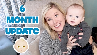 👶🏼 6 MONTH BABY BROOKS UPDATE! 😬 Sleep Regression, Separation Anxiety, & Teething