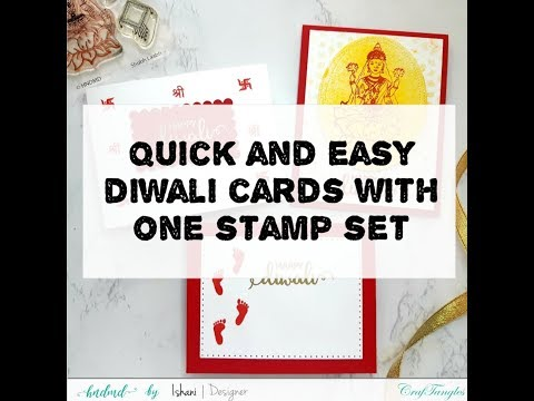 Quick And Easy Mass Produced Diwali Cards With 1 Stamp Set [DIY Start To End Tutorial]