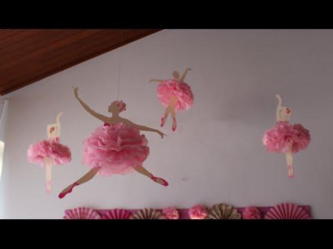 73d23fefce Bailarina de papel com pompom de seda - YouTube