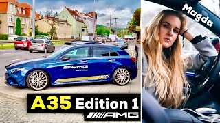 2019 MERCEDES AMG A35 Edition 1 FULL POV Drive w Magda AMG Expert at AMG Brand Center in Poland