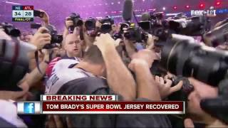Tom Brady's Super Bowl jersey recovered overseas