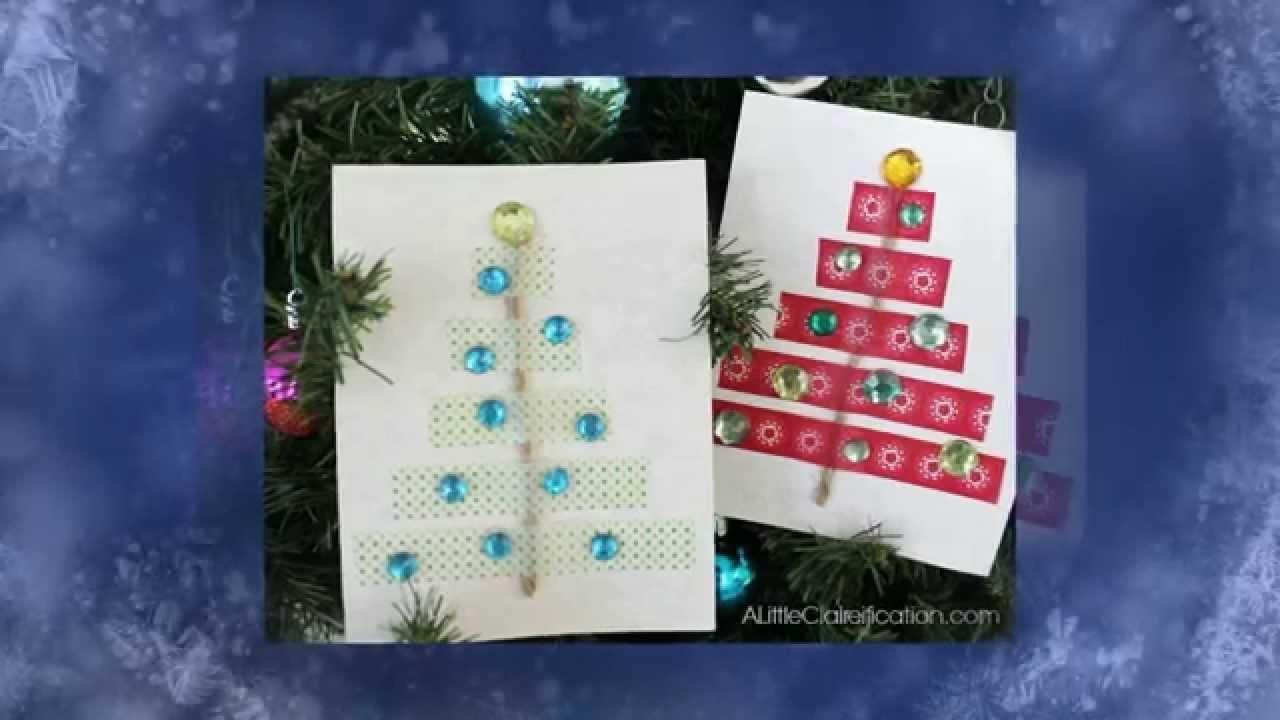 Как быстро сделать новогоднюю открытку фото 984