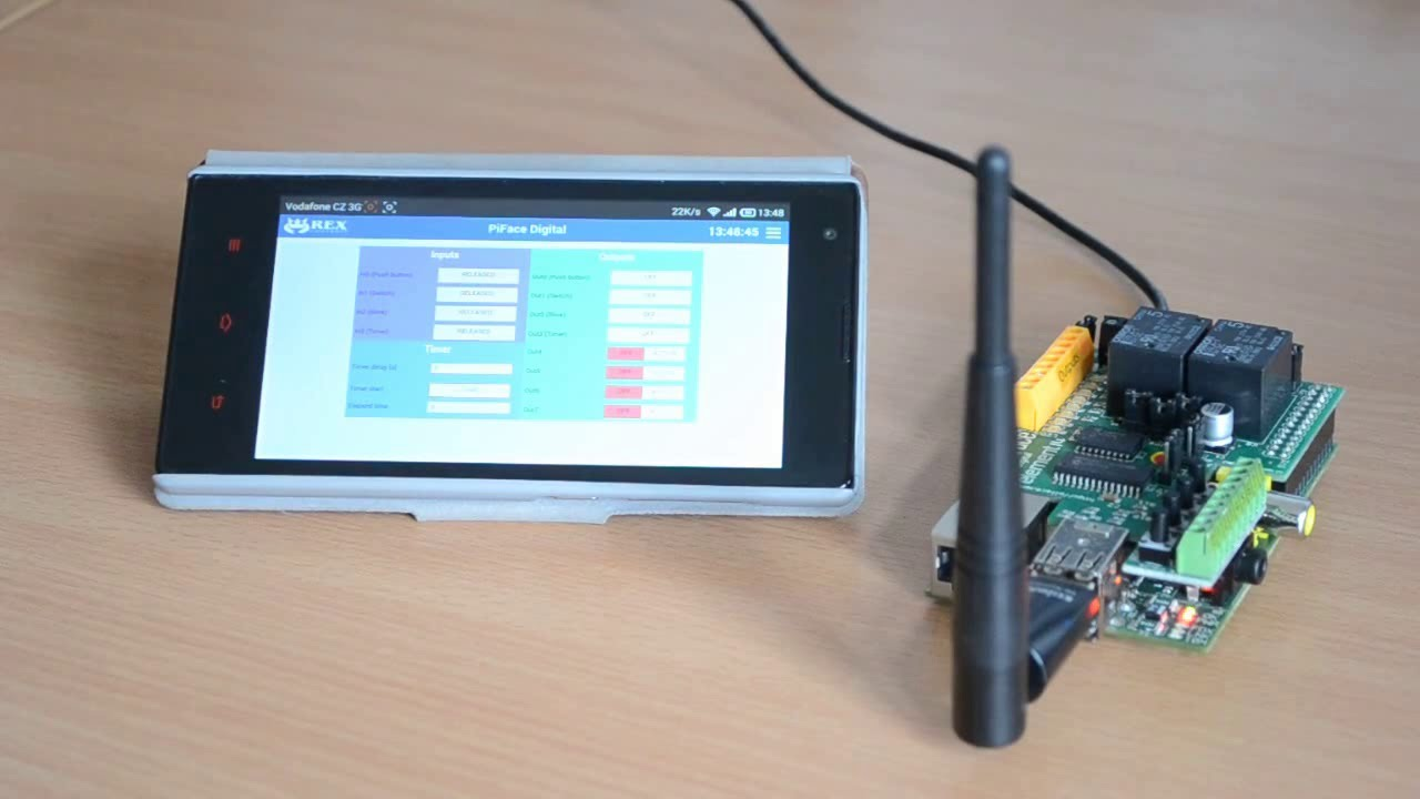 Web Based Hmi For Piface Digital On Raspberry Pi Youtube