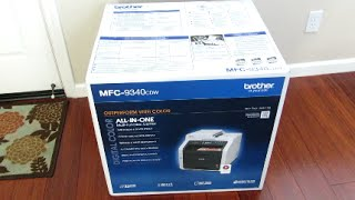 Brother MFC-9340CDW: Unboxing & Setup Video Review