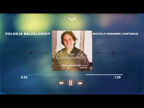 Violin virtuoso Volodja Balzalorsky plays Paganini Cantabile Live