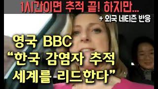 """영국 BBC """"한국의 감염자 추적, 세계를 리드하는 기술력"""" + 해외반응 (feat 로라 비커) (한글+영어자막)"""