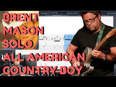 """Brent Mason Country Guitar Solo On Alan Jackson """"All American Country Boy"""" - Levi Clay Transcribes"""