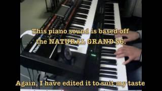 5 PIANO sounds created on the Yamaha MOXF8.
